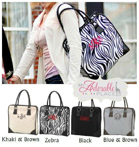 1005  Personalized Classic Shoulder Tote