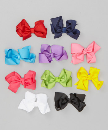 Assorted Bow Clip Set - Yearly Collection