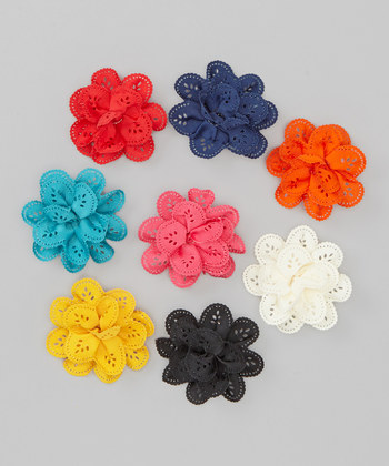 Assorted Bow Clip Set - Eyelet Collection