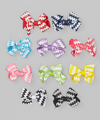 Assorted Bow Clip Set - ZigZag Collection