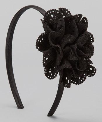 Black Eyelet  Headband