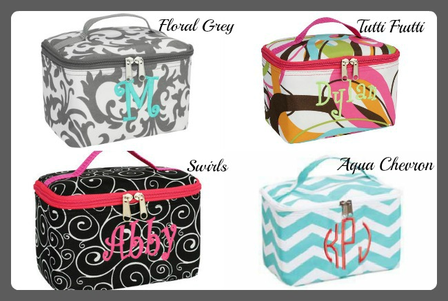 1009 Monogrammed Cosmetic & Jewelry Case