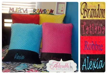 1008  Personalized Minky Pillow
