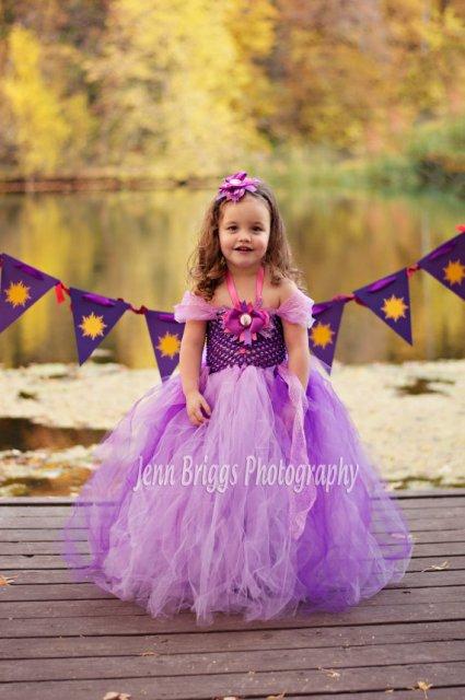 Rapunzel inspired tutu dress & Headpiece