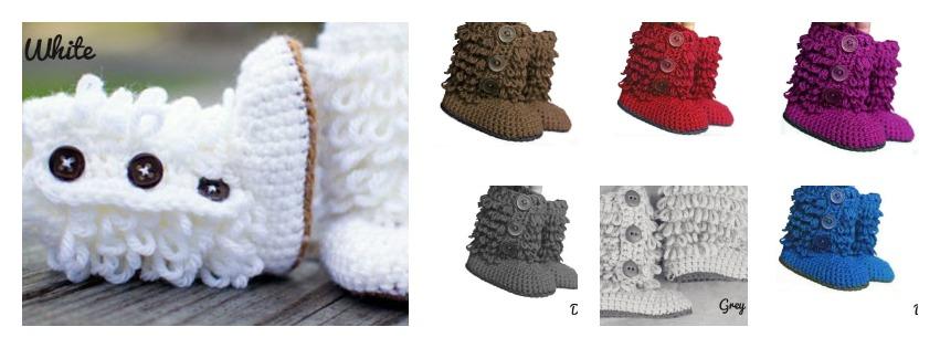 1012 - Crochet Ruffled Booties